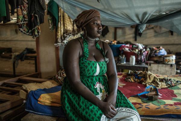 Muriel en el campo de refugiados de Castor, Bangui. Imagen de Pablo Tosco / Oxfam Intermón