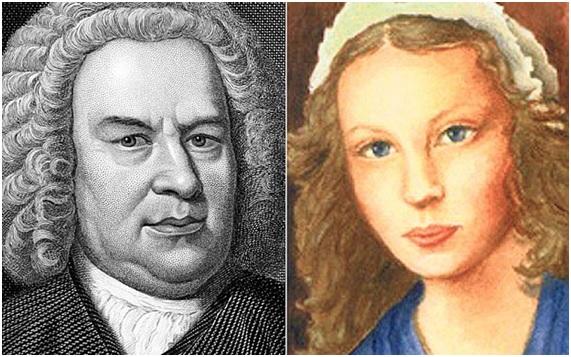 Juan Sebastián y Ana Magdalena Bach. Imágenes de archivo