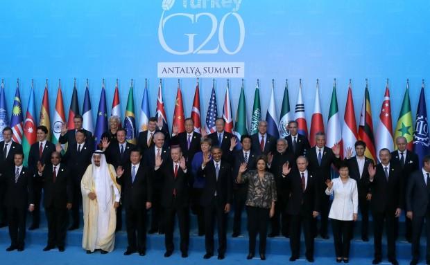 Foto de grupo del G20 en Turquía (2015).