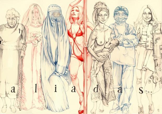 Obra de la artista Carmen García Huerta para la exposición Aliadas.