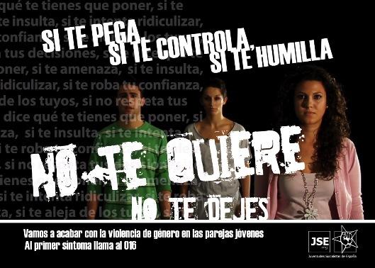 Ejemplo de campaña contra la violencia dirigida a las mujeres. Imagen: JSE