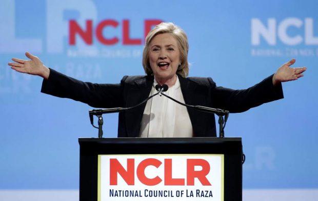 Hillary Clinton, en un acto electoral. Imagen: G3.