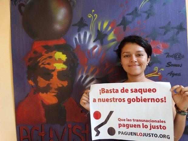 Protesta contra la injusticia fiscal. Imagen del proyecto Tax Justice Together.