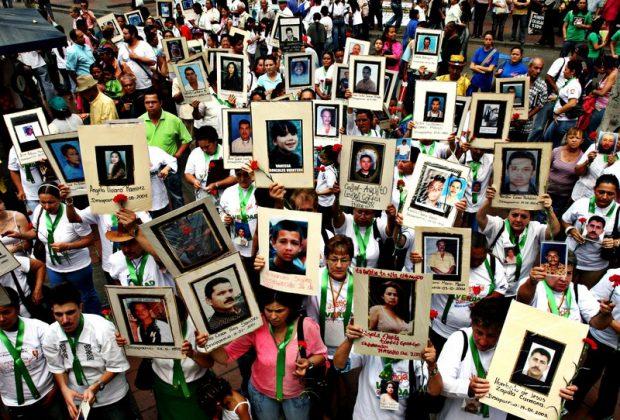 Manifestación por las víctimas del conflicto en Colombia. Imagen de Oxfam Intermón.