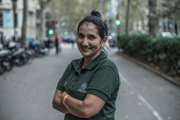 Lucila Blandón, durante una visita a Barcelona. Imagen de Pablo Tosco/Oxfam Intermón.