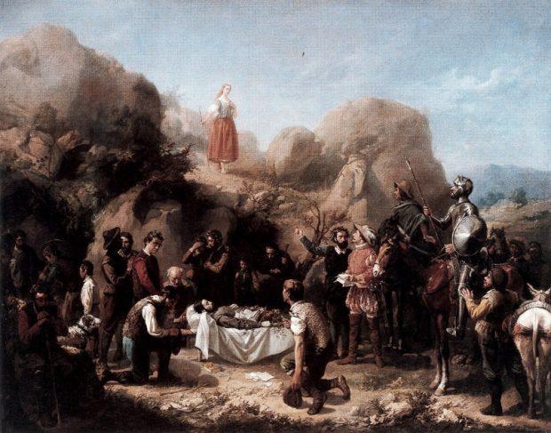Discurso de la pastora Marcela. Imagen del Quijote.
