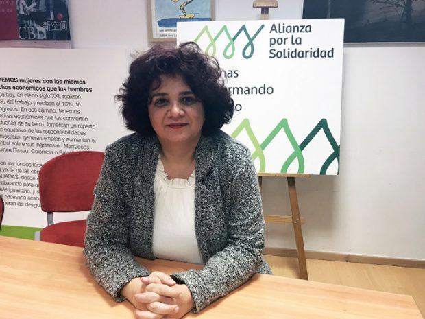 Mouna Ghanem, fundadora del Foro de Mujeres Sirias por la Paz (Syrians Women Forum for Peace). Foto: Alianza por Solidaridad.