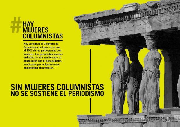 Detalle del cartel #haymujerescolumnistas