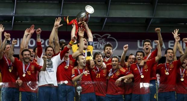 Victoria de España en la Eurocopa 2012 (EFE).