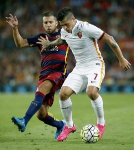 Iturbe y Alba en el Barça - Roma