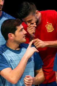 Casillas y Piqué con la selección