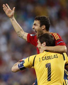 Casillas y Cesc
