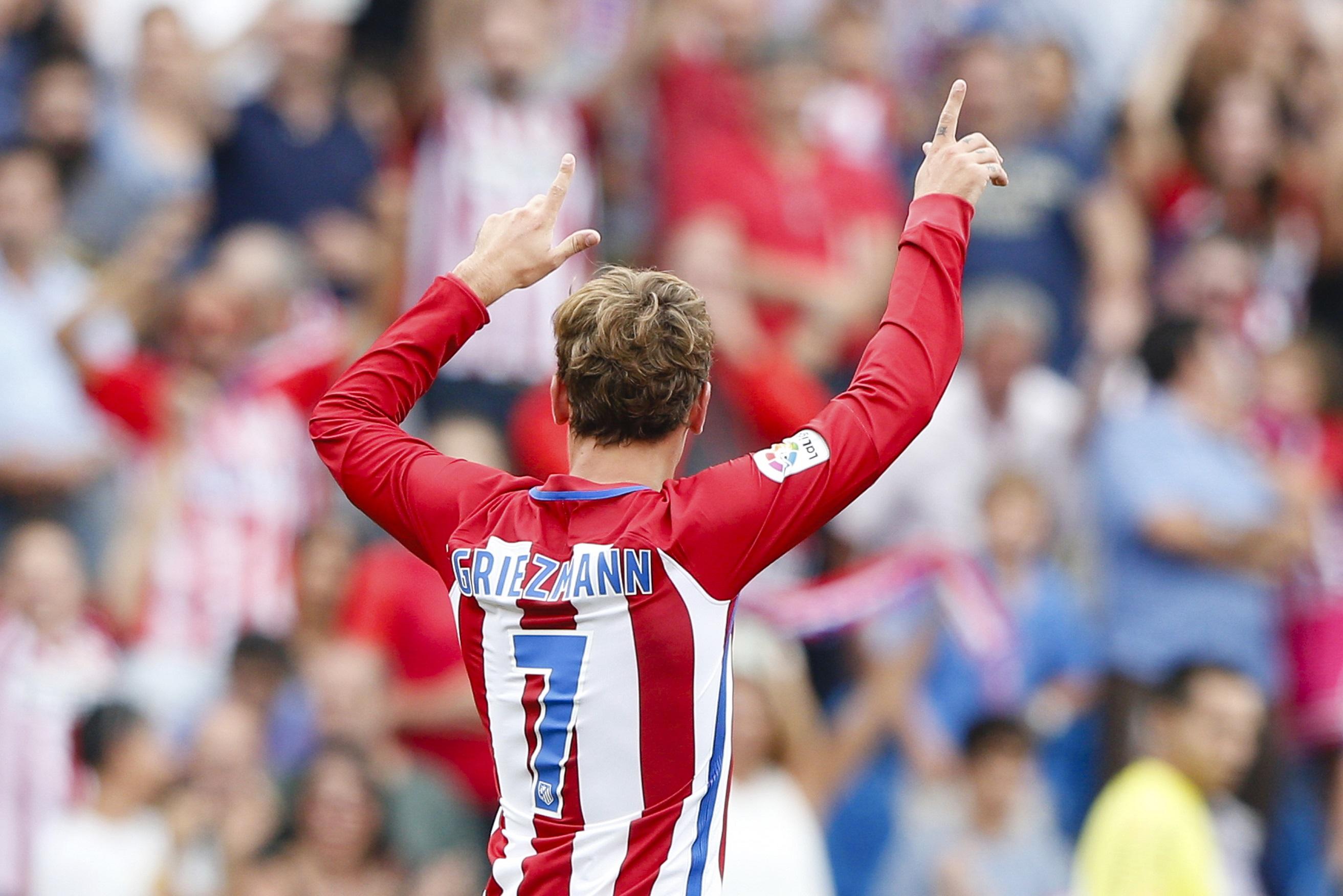 Griezmann celebra un gol en el Calderón ante el Dépor (GTRES).