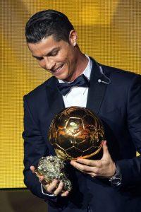 Cristiano con el Balón de Oro