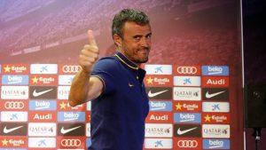 Luis Enrique, en rueda de prensa. (FCB)