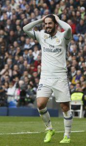Isco en un partido con el Real Madrid. (EFE)