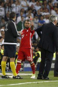 Vidal tras ser expulsado en el Bernabéu