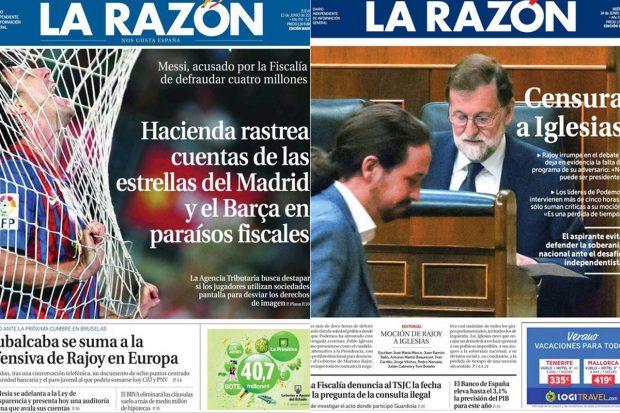 Portadas La Razón
