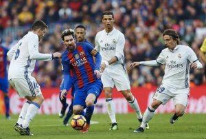 Messi ante el Real Madrid