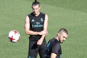 Bale y Benzema en un entrenamiento