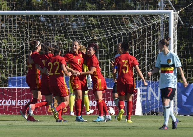 Selección española de fútbol femenino.