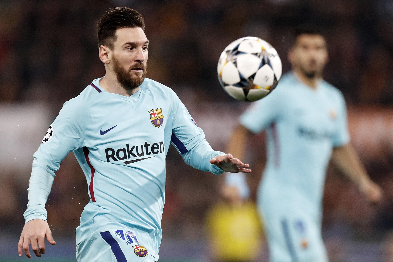 Messi, desaparecido ante la Roma. EFE