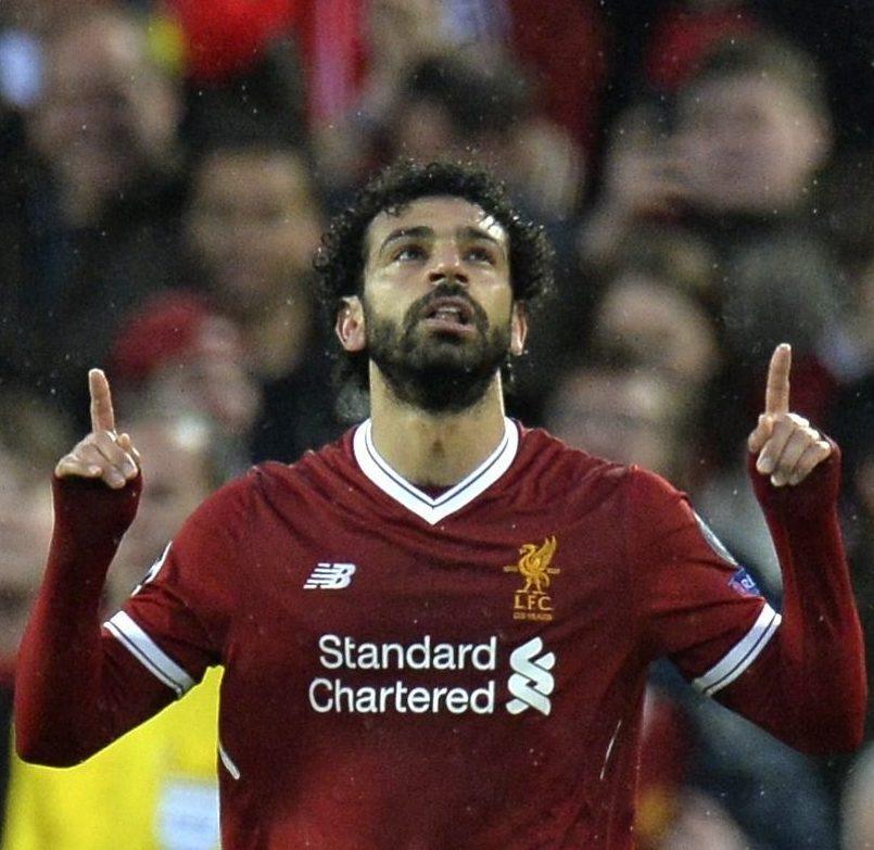 Salah celebra un gol. EFE