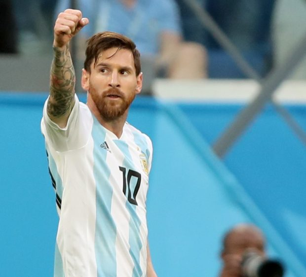 Messi celebra su gol ante Nigeria. EFE