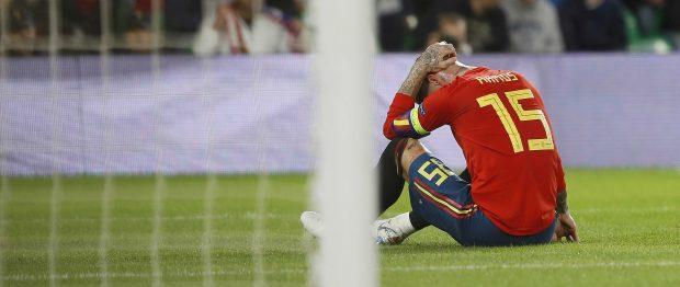 Sergio Ramos se lamenta