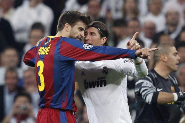 Enfrentamiento entre Piqué y Ramos, los jugadores más polémicos de ambos equipos. (EFE)