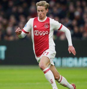Frenkie de Jong con el Ajax. (ARCHIVO)