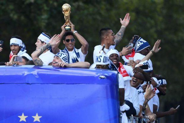 Francia celebra el Mundial
