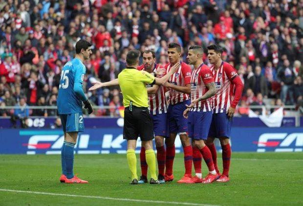 Protestas del Atlético en el derbi