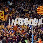 Proclamas independentistas en el Camp Nou. EFE