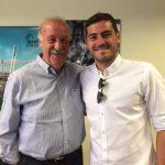 Iker Casillas y Del Bosque