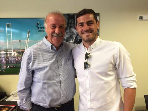 Iker Casillas y Del Bosque