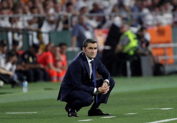 Ernesto Valverde durante la final de Copa ante el Valencia. (EFE)