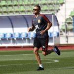 Luis Enrique entrenando con la selección. RFEF
