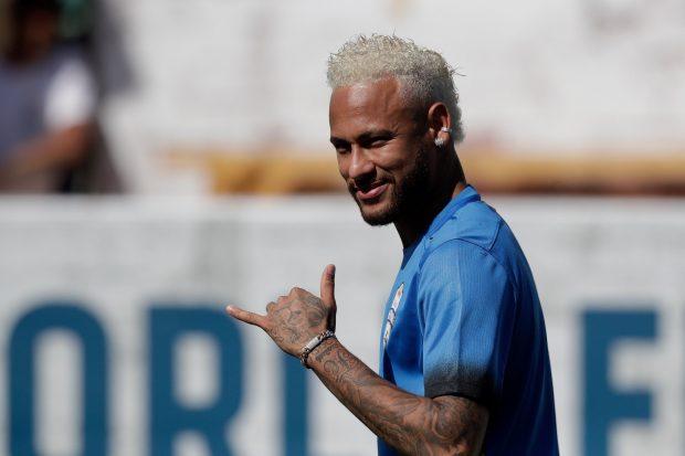 Neymar entrena con el PSG. (EFE)