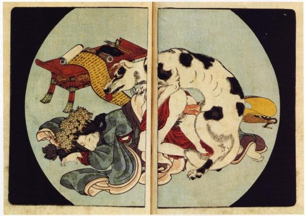 Dibujo de Utagawa Kunisada, Wikipedia