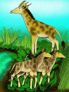 Ilustración del 'Samotherium', el primer jiráfido. Imagen de Apokryltaros / Wikipedia.