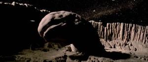 El gusano espacial que trataba de tragarse el 'Halcón Milenario' en 'El imperio contraataca'. Imagen de 20th Century Fox.