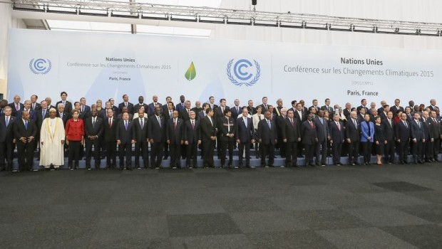 Representantes en la cumbre del clima COP21 en París, el 30 de noviembre de 2015. Imagen de Roberto Stuckert Filho / Wikipedia.