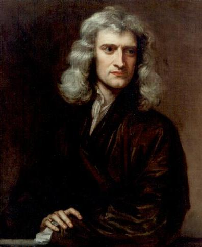 Isaac Newton en 1689 por Godfrey Kneller. Imagen de Wikipedia.