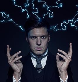 Andreas Wahl, en una imagen promocional de su espectáculo Elektrisk. elektriskshow.no.