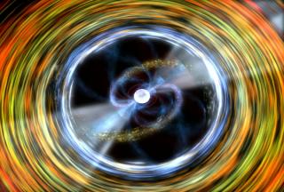 Ilustración de un púlsar. Imagen de NASA.