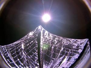 Prueba de las velas de Lightsail en 2015. Imagen de Planetary Society.