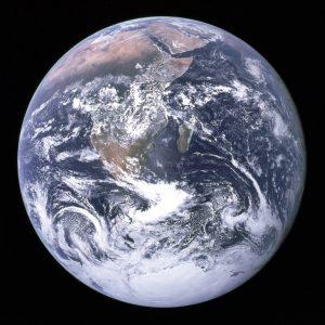 La 'canica azul', imagen de la Tierra tomada por la misión Apolo 17 en 1972. Imagen de NASA.