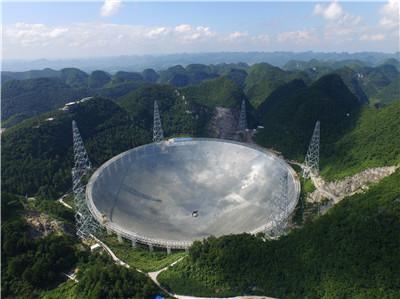 El radiotelescopio FAST (China). Imagen de NAOC.
