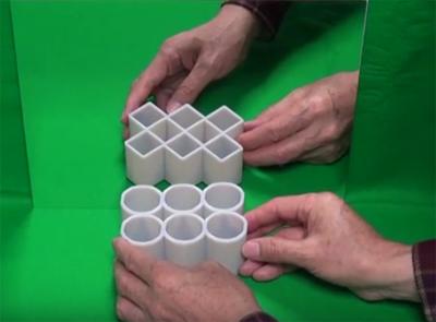 Una captura de la nueva ilusión de Sugihara. Imagen de YouTube.